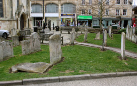 St Michael's churchyard before...