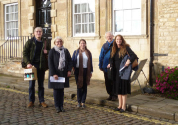 Members of the Institute of Historic Building Conservation (East Midlands Group) who were given a tour after their AGM
