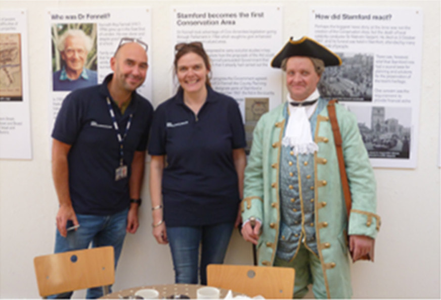 Charlotte Wright and Martin Slack from BBC Radio Lincolnshire's Pirate Gold programme find gold in the exhibition (and a Georgian)