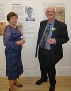 Gwyneth Gibbs with Roderick Fennell at the Society's reception